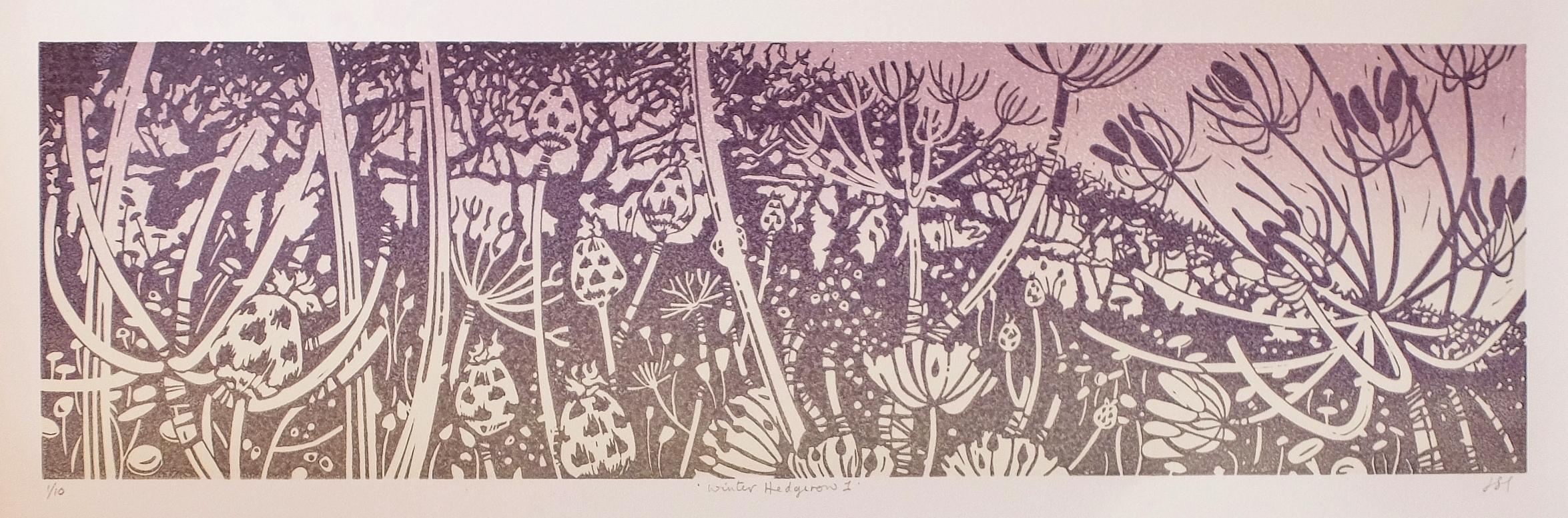 Winter Hedgerow 2, 140mm x 480mm, Unmounted, £120.00