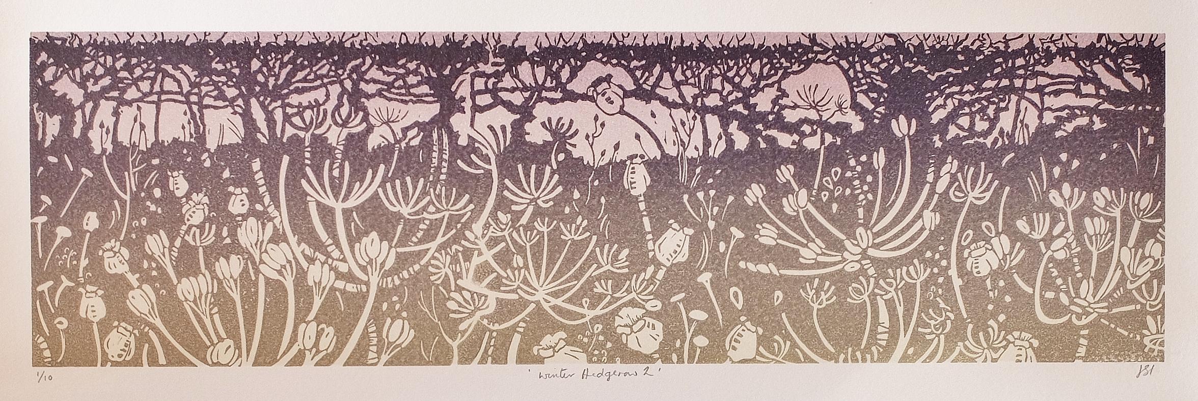 Winter Hedgerow 1, Unmounted, 140mm x 480mm, £120.00