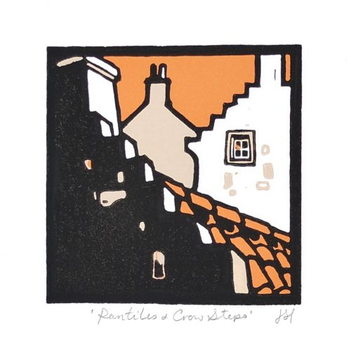 Pantiles & Crowsteps 80mm x 80mm Unmounted £25.00